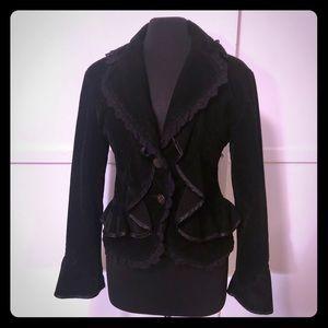 Vintage Goth Victorian Velvet steampunk Jacket